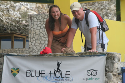The Blue hole mineral spring