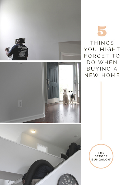 5 things you might forget to do when buying a home