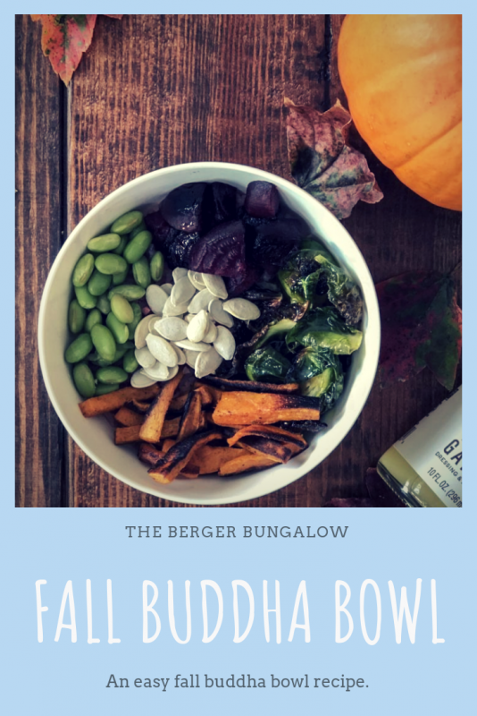 Atlanta-based blogger, Alex, from The Berger Bungalow shares the best fall buddha bowl recipe.
