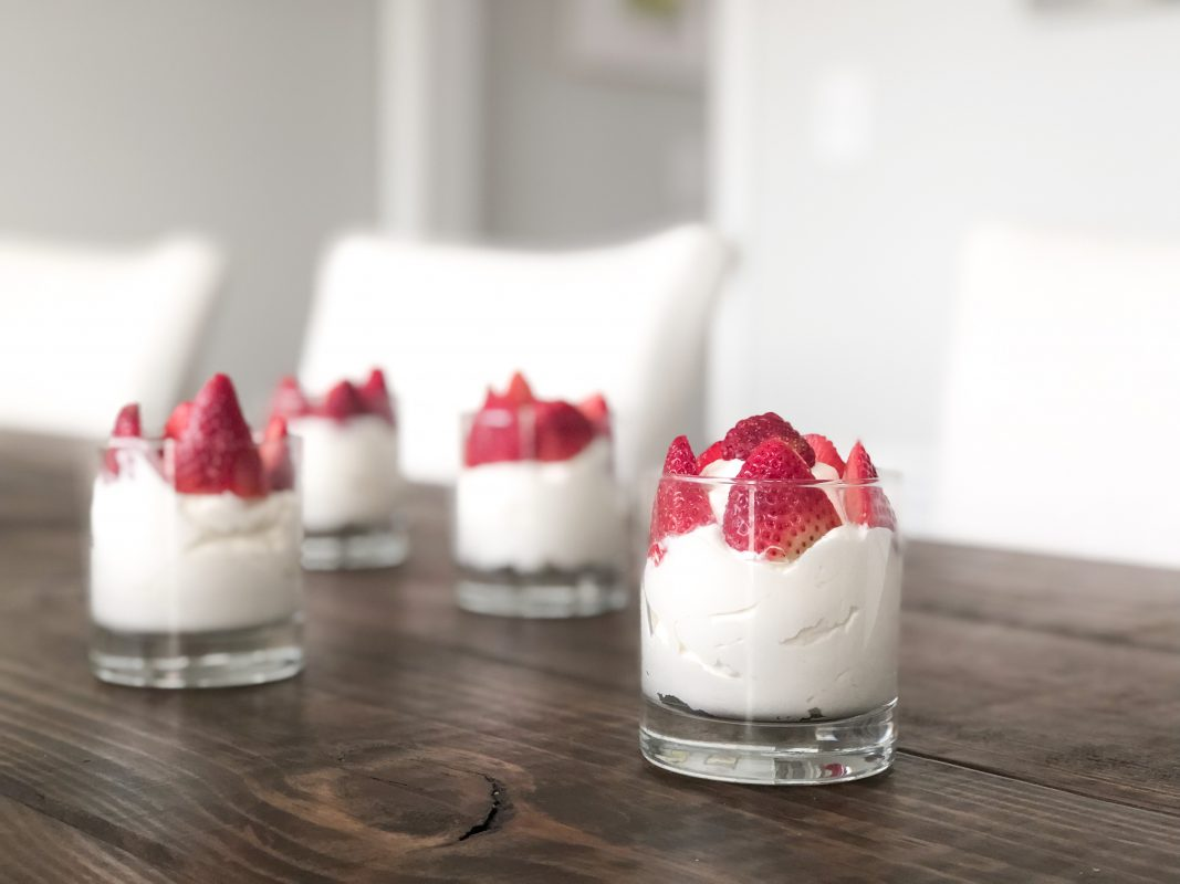 Atlanta-based blogger, The Berger Bungalow shares a simple dessert recipe: strawberries and cream