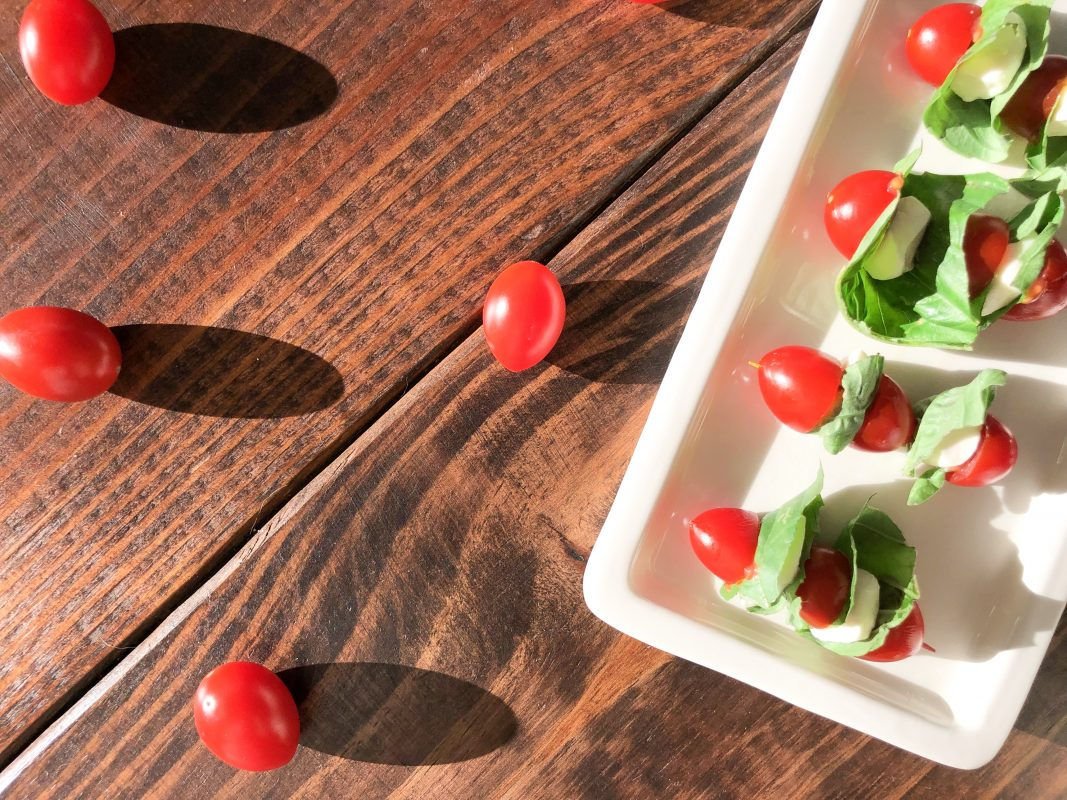 Atlanta-based blogger The Berger Bungalow shares an easy appetizer recipe, caprese bites.